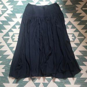 J.jill silk flowing skirt